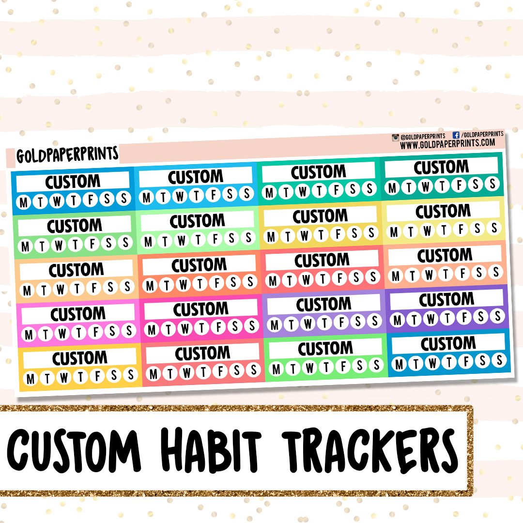 Custom Habit Trackers Sheet