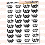 Family Walk Sheet