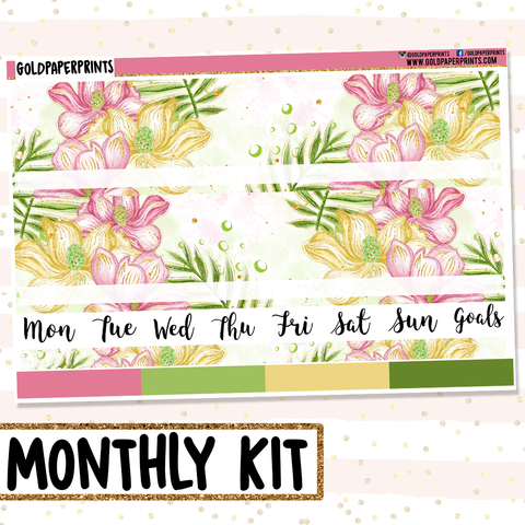 Floral Lily // Monthly View Kit