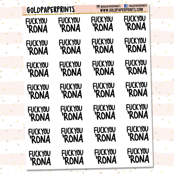 Fuck You 'Rona Sheet