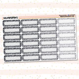Glitter Quarter Boxes Sheet