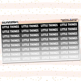 Little Things Headers Sheet