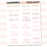 Menstruation Tracker Sheet