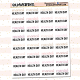 Mental Health Day Sheet