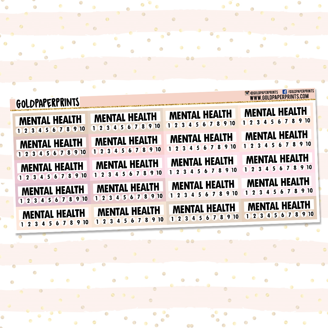 Mental Health Tracker Sheet