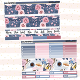 Navy Floral // Monthly View Kit