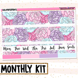 Pastel Flowers // Monthly View Kit