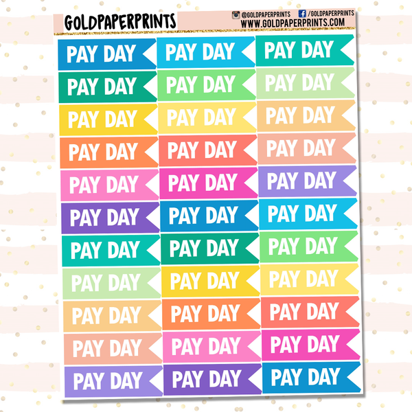 Pay Day Mini Flags Sheet