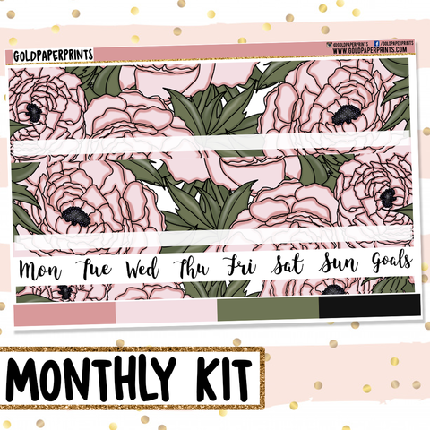 Peony // Monthly View Kit