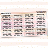 Period Flow Tracker Sheet