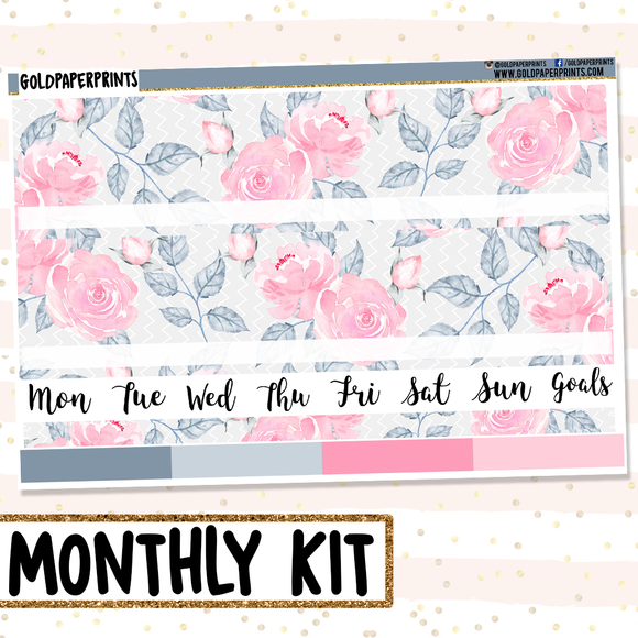 Pink Petals // Monthly View Kit