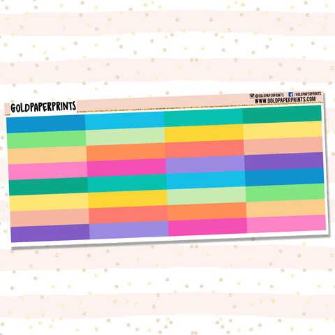 Plain Colored Headers Sheet