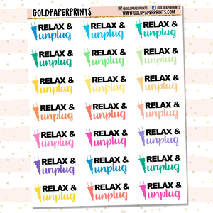 Relax & Unplug Sheet