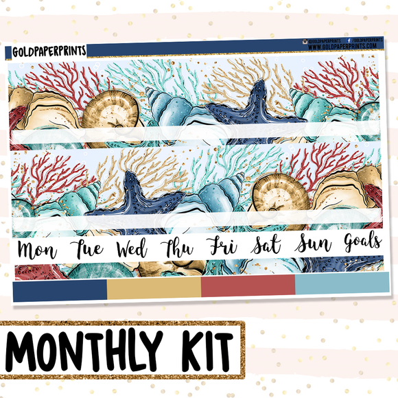 SeaShells // Monthly View Kit