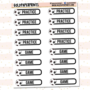 Soccer Practice/Game Sheet