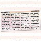 Stay on Diet Tracker Sheet