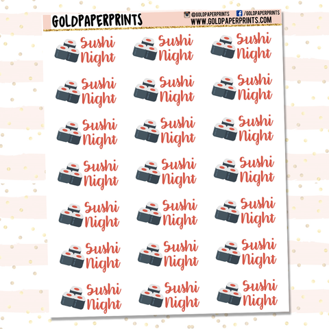Sushi Night Sheet