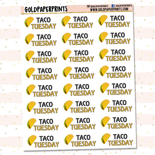 Taco Tuesday Sheet