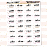Video Chat Sheet