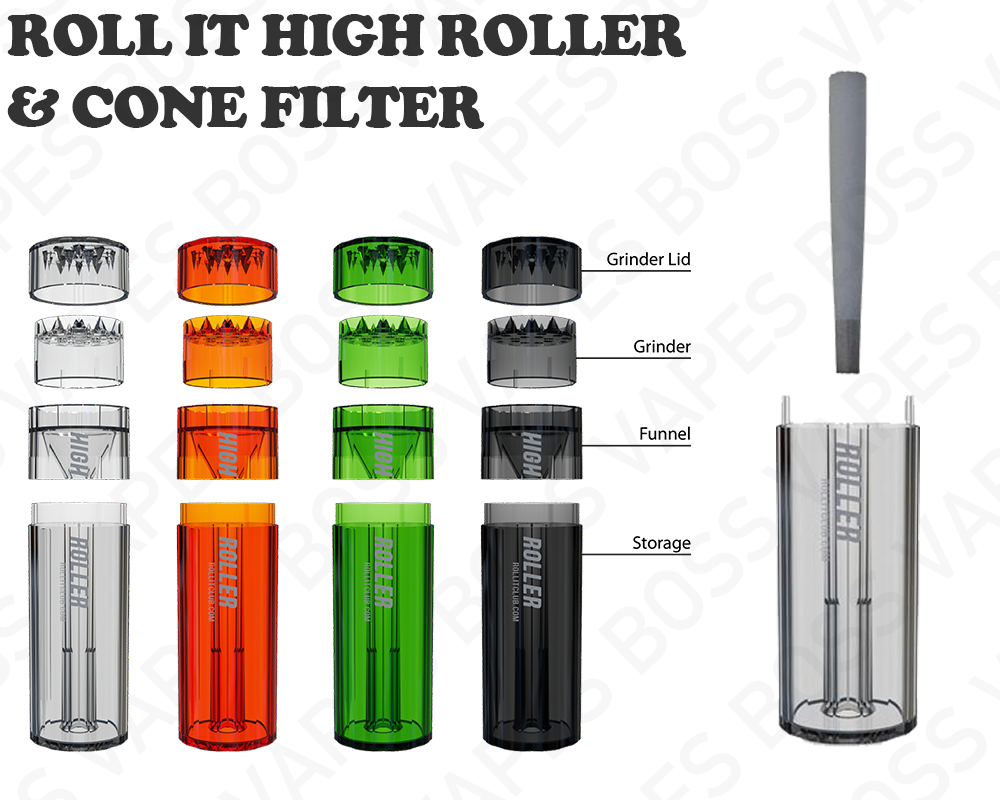 Roll It High Roller Grinder & Cone Filler