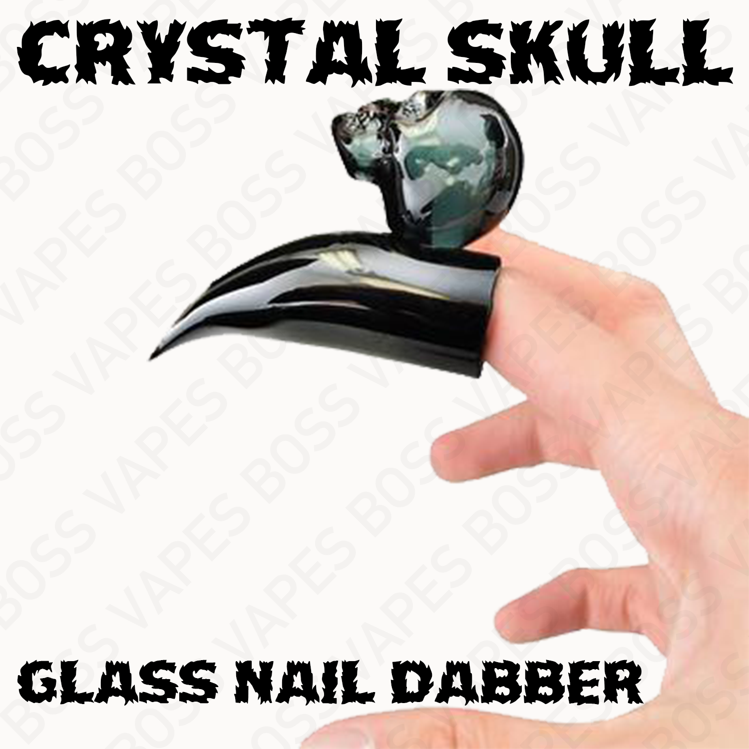 Crystal Skull Glass Nail Dabber – Assorted Colors - Boss Vapes