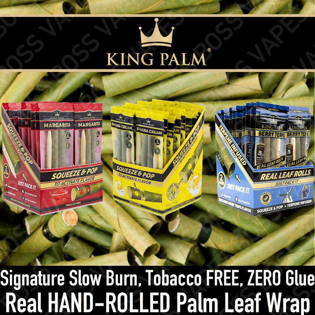 King Palm Squeeze & Pop Blunts - Boss Vapes
