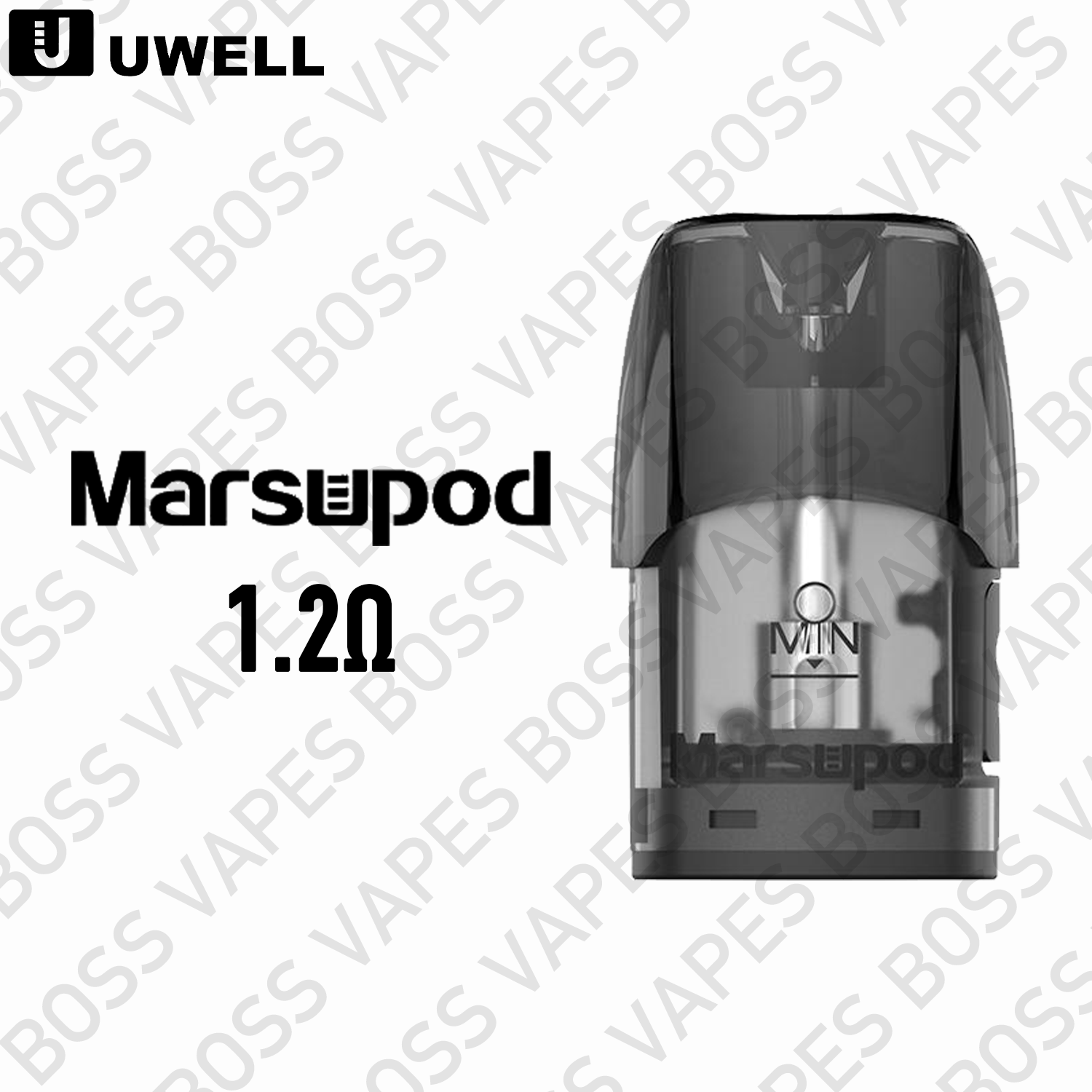 Uwell Marsu 1.2ohm Replacement Pods (Price Per Pod) - Boss Vapes