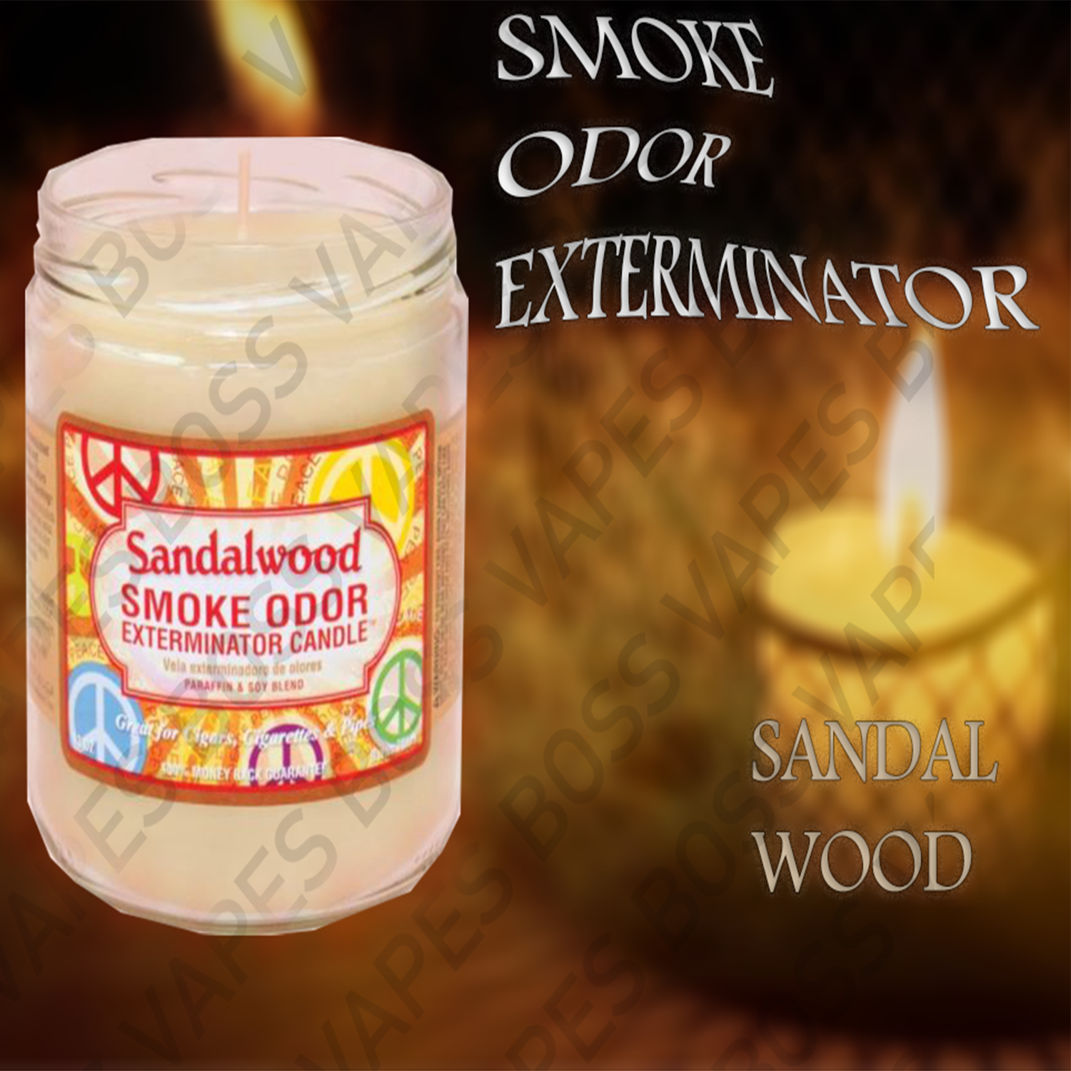 Smoke Odor Exterminator Candles - 13oz - Boss Vapes