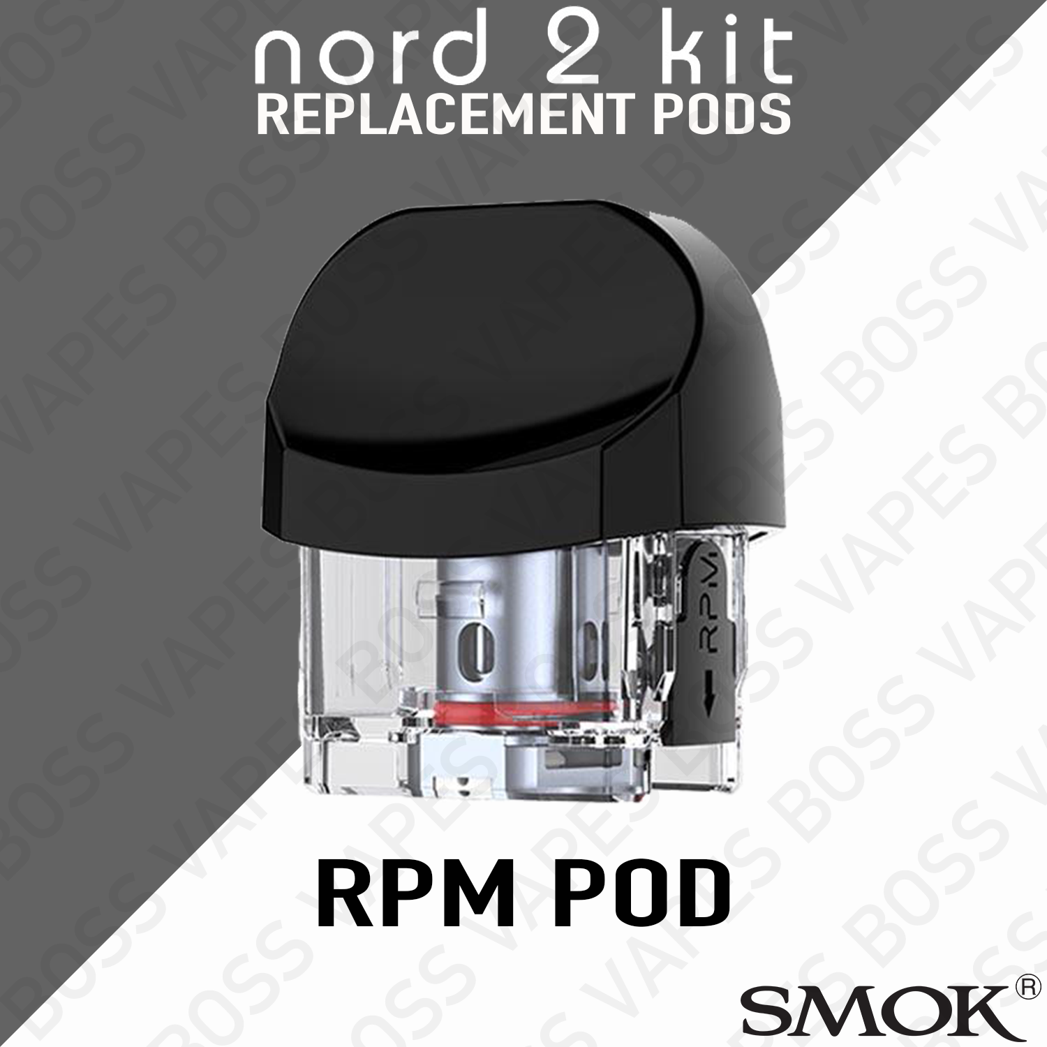 SMOK NORD 2 EMPTY POD (Pods Priced Individually) - Boss Vapes