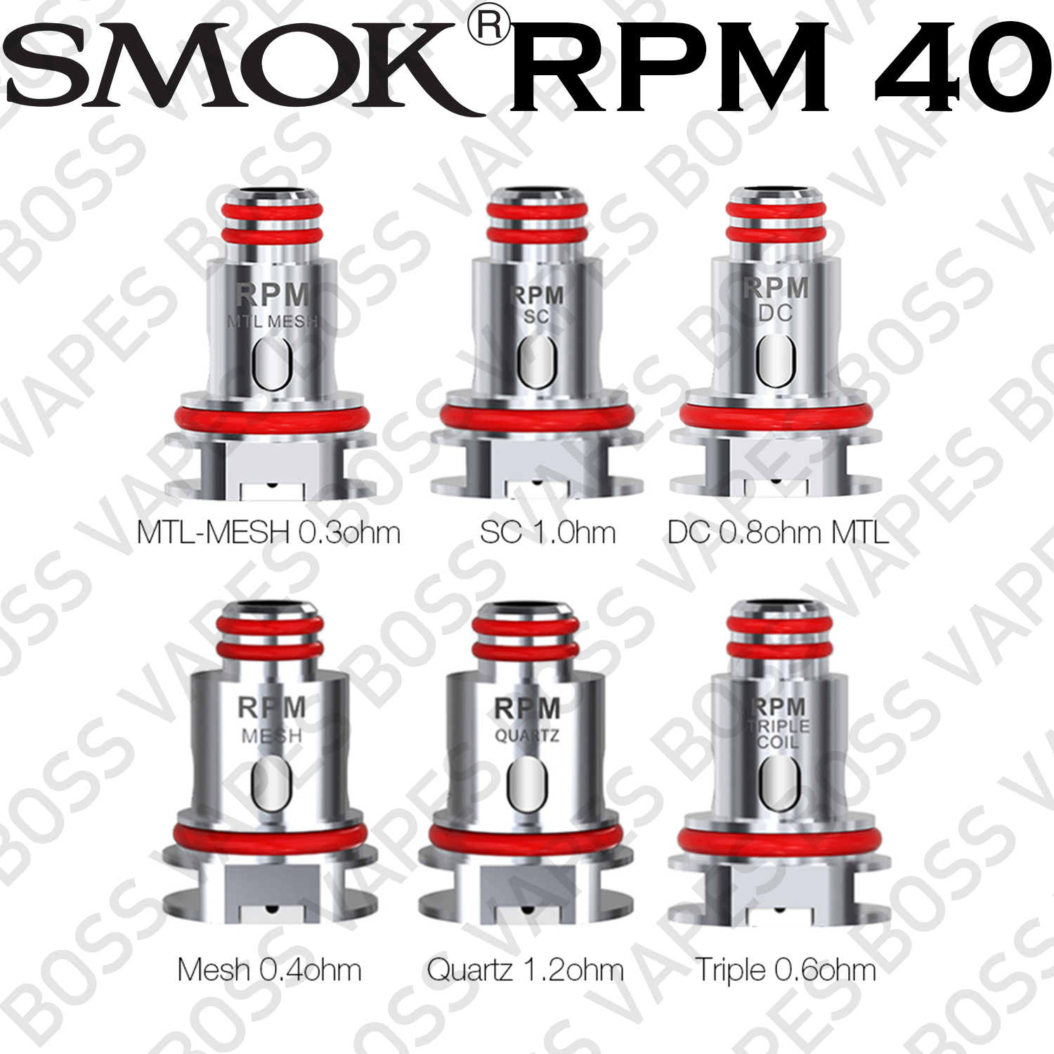 SMOK RPM COILS (Price Per Coil) - Boss Vapes