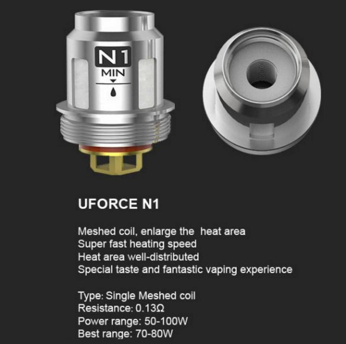 VOOPOO UFORCE REPLACEMENT COILS (Price Per Coil) - Boss Vapes
