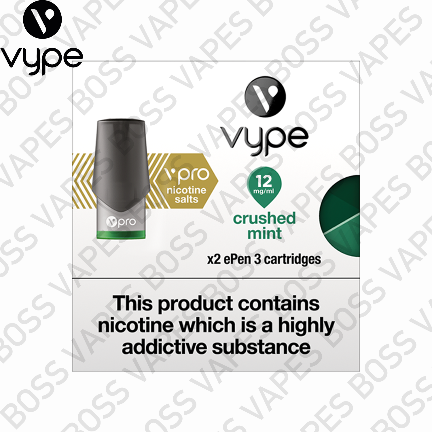 VYPE EPEN3 VPRO PODS (PRICE PER PACK OF 2) - Boss Vapes