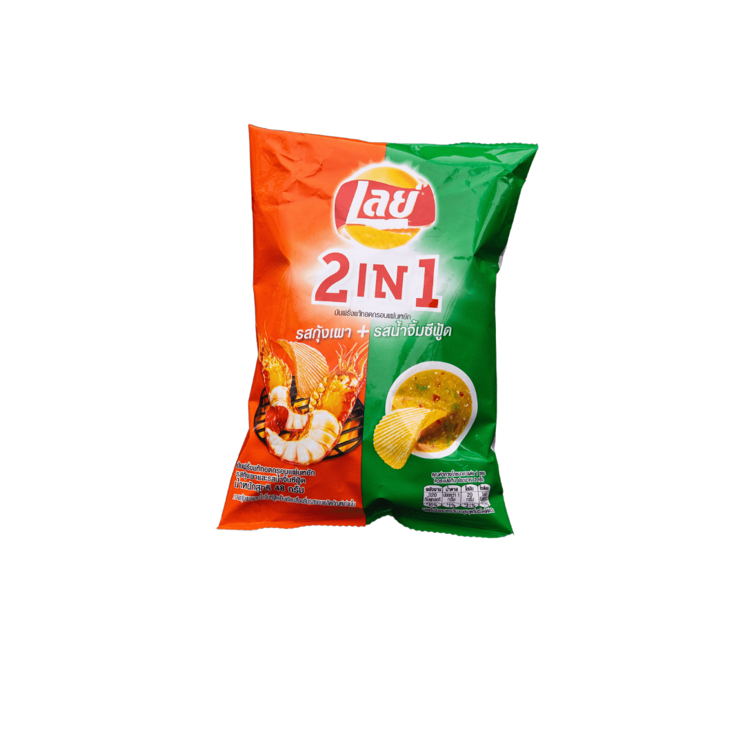 THAI LAYS POTATO CHIPS, GRILLED PRAWN AND SEAFOOD SAUCE, 48 GRAM