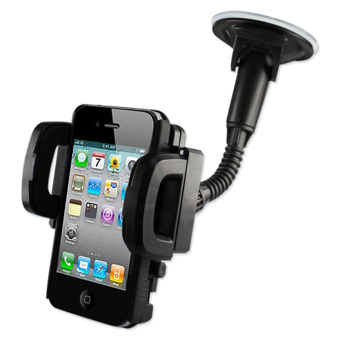 Universal Suction Glass Window Phone Holder In Black