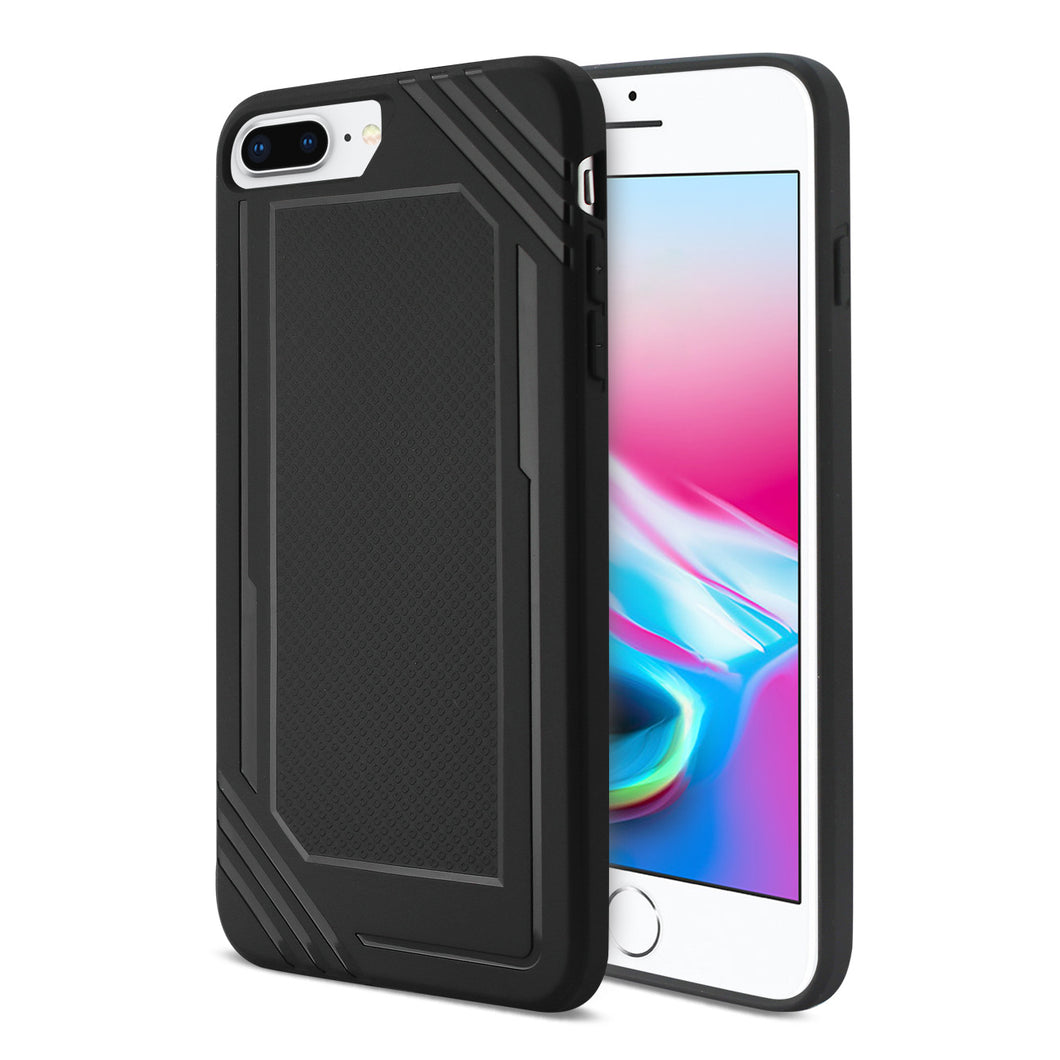 iPhone 8/7 Plus Slim-Fit Flexible Soft TPU Rubber Bumper Anti-Slip Grip Protective Armor in