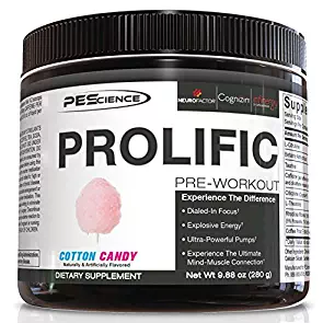 Physique Enhancing Science 20 Serve Prolific, Cotton Candy, 9.88 Ounce