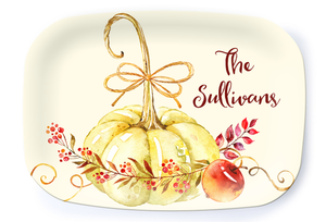 Wrapped Pumpkin Platter - milogiftshop