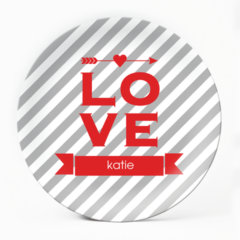 Red Love Plate