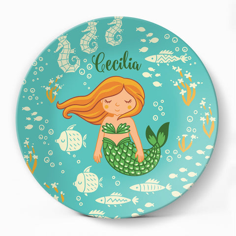 Sea Maiden Plate - milogiftshop