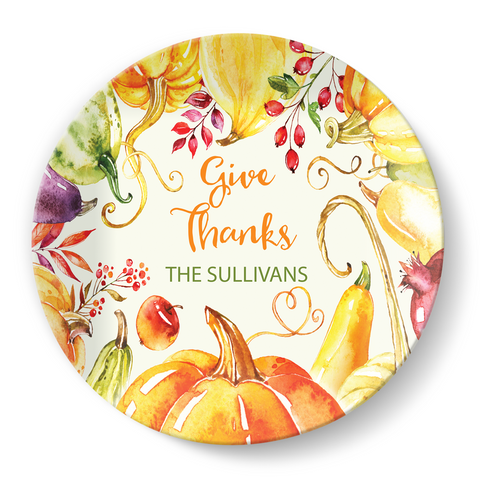 Give Thanks Plate - milogiftshop