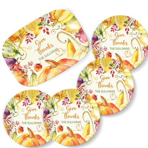 Give Thanks Tabletop Set - milogiftshop