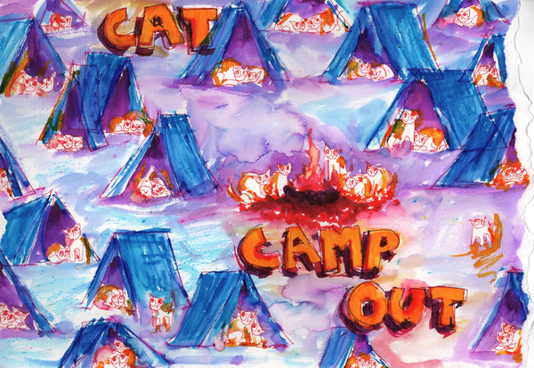 Cat Campout (two - larger)
