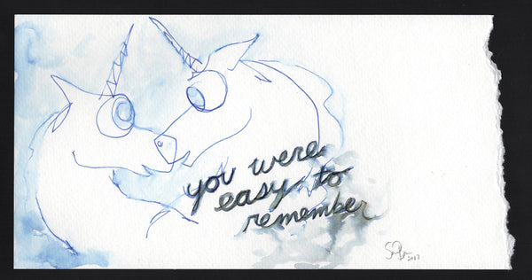 You were easy to remember