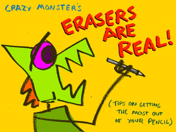 Crazy Monster's Erasers are Real as an ebook 14 Pages