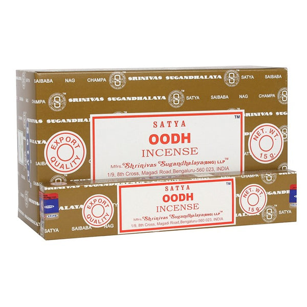 high quality Satya Oodh incense sticks which are handmade in India. Oodh is a rare and precious resin which has been used for centuries in incense, perfumes and traditional medicine.