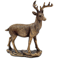 From the famous Leonardo collection we have these beautiful bronze Deer. nice and heavy and with felt on the bottom to protect surfaces. This Deer ornament is very detailed and has the leonardo stamp on the bottom. Measures-19cm x 6cm x 20cm
