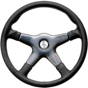 Luisi Giba 4 Elegant Steering Wheel Black Leather With Carbon Look Centre Cover 365mm