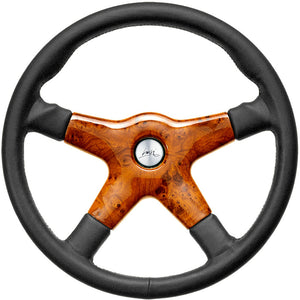 Luisi Giba 4 Prestige Steering Wheel Black Leather With Briar Look Centre Cover 365mm