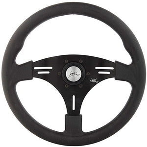 Luisi Grip Steering Wheel Black Polyurethane Black Spokes 355mm