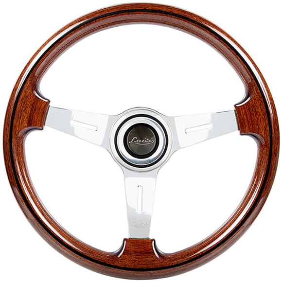 Luisi Mugello Classico II Steering Wheel Mahogany Wood Polished Spokes 370mm